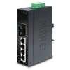 IP30 Slim Type 4-Port Industrial Ethernet Switch + 1-Port 100Base-FX(SC) (-10 - 60 C) DIN