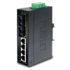 IP30 Slim Type 4-Port Industrial Ethernet Switch + 2-Port 100Base-FX(15KM) (-10 - 60 C) DIN