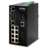 IP30  SNMP PoE 8-Port/TP + 2-Port Gigabit Combo Industrial Ethernet Switch (-40 to 75 C)