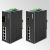 IP30 4-Port/TP + 1-Port Fiber(SC-15KM) PoE Industrial Fast Ethernet Switch (-40 to 75 C)