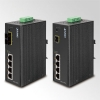 IP30 4-Port/TP+1-Port Fiber(SC-2KM) Web/Smart PoE Industrial Fast Ethernet Switch (-10to60 C)