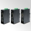 IP30 Industrial SNMP Manageable 10/100/1000Base-T to 1000Base-SX Converter (-30 to 75C)