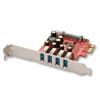 USB 3.0 PCIe kaart, 4 porti