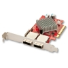 SAS/SATA 6Gbps PCIe x 8 x16 multilane kontroller, Low Profile, 8 porti