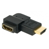 Adapter HDMI (M) - (F), nurgaga paremale