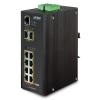 IP30 SNMP 8-Port Gigabit POE+(AT) Switch + 2-Port Gigabit SFP Industrial Switch (-40 to 75 C)