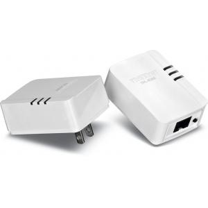 Powerline adapter: 1 x 10/100Mbps, 500Mbps, kompaktne, kahene komplekt