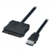Üleminek eSATA - SATA 1.0m, väline (2.5 ja 3.5 SATA HDD ühendamiseks eSATA pessa)