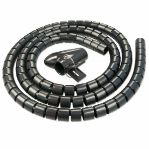 Juhtmete korrastaja plastikust 2.0m must koos sidujaga, 25mm