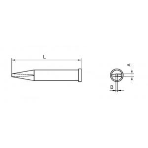 XT-AL kolviots lühike 1.6x1.0mm WSP-120
