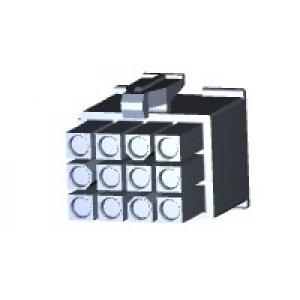 Mini Mate-N-Lok pistik 12-kont, juhtmele, 4,14mm 172170-1*