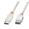 USB 2.0 pikenduskaabel 5.0m, hall
