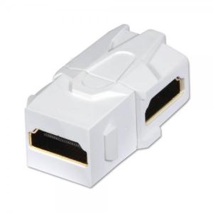 Keystone moodul: HDMI (F) - (F), 90 kraadise nurgaga, valge