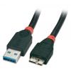 USB 3.0 kaabel A - Micro B 1.0m, must