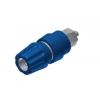 BANANA SOCKET 63A 4MM INSULATED BLUE