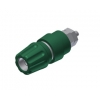 BANANA SOCKET 63A 4MM INSULATED GREEN