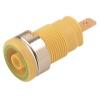 Banaanpesa 4mm, isoleeritud 24A 1kV, kollane/roheline 4,8mm