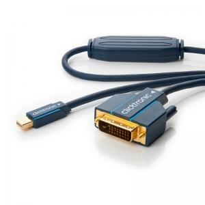Mini Displayport - DVI-D Dual Link kaabel 1.0m, kullatud, OFC, topeltvarjega (sign suund DP > DVI), tumesinine