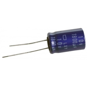 Elektrolüüt kondensaator 1000uF 25V 105°C 12.5x25mm