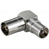 Üleminek antennipistikule 90kraadi (F) - (M)
