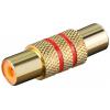 Adapter RCA (F) - (F), kullatud, punane