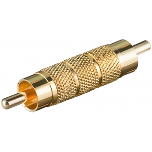 Adapter RCA (M) - (M), kullatud