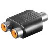 Adapter RCA (F) - 2xRCA (F)
