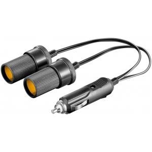 Auto sigaretisüütajapesa laiendus adapter 2-le 12/ 24VDC 2.5A