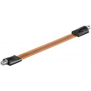 Antennikaabli jätkukaabel F-pesa - F-pesa 0.26m, lapik, pruun/must