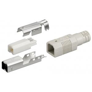 USB pistik, Tüüp B, kaablile, joodetav