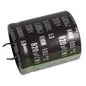 Elektrolüüt kondensaator 330uF 200V 105°C 22x30mm, Snap-In