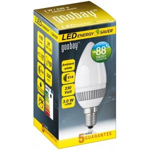 LED pirn, E14 sokliga, 230V pingele, 20W, 170 lumen (küünal)