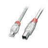 USB 2.0 kaabel Mini A - B 3.0m OTG, läbipaistev