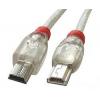 USB 2.0 kaabel Mini A - Mini B 3.0m OTG, läbipaistev