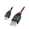 USB 2.0 kaabel A - Micro B 0.5m, must