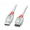 USB 2.0 pikenduskaabel A - A 2.0m, läbipaistev