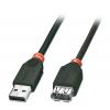 USB 2.0 pikenduskaabel 0.2m, must