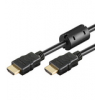 HDMI kaabel 1.0m + Ethernet, ferriitidega, 2160p