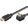 HDMI kaabel 1.5m + Ethernet, 1x90° nurgaga, 2160p