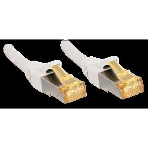 Võrgukaabel Cat7 S/FTP 0.5m, valge, PiMF, LSZH