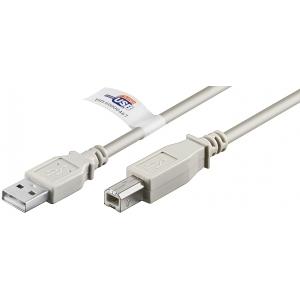 USB 2.0 kaabel A - B 5.0m, hall