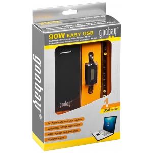 Universaalne toiteplokk, sisend: 100-240V, automaatne väljund: 5-22V, 6000mA, USB, LCD, 90W, Must
