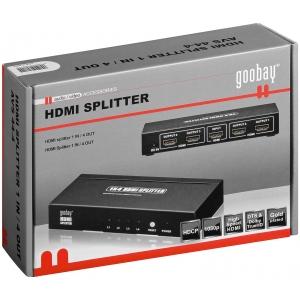 HDMI splitter, 1 sisse / 4 välja (3D, Full HD, HDCP, HDMI 1.3b tugi)