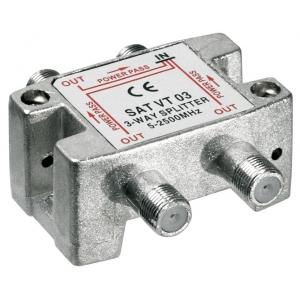Signaali jagaja (SAT), 5-2450 MHz, 1 sisse - 3 välja