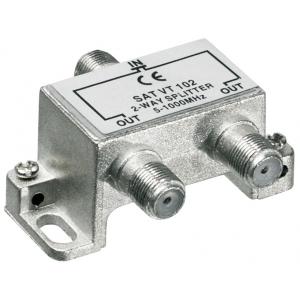 Signaali jagaja (TV), 5-1000Mhz, 1 sisse - 2 välja