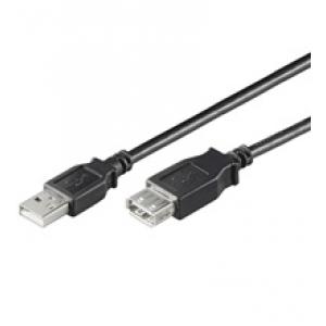 USB 2.0 pikenduskaabel A - A 0.3m, must