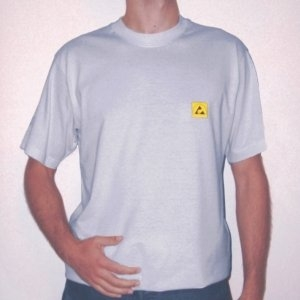 DISSIPATIVE T-SHIRT light grey colour - XXL
