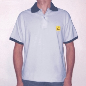 DISSIPATIVE POLO-SHIRT light grey colour - XXL