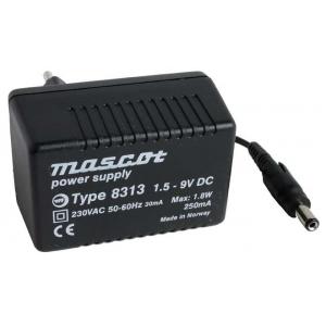 Toiteplokk plug-in 1,5...9VDC 1,8W stab., 230VA