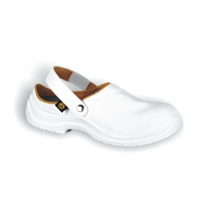 Dissipative Footwear S-CLOG - WHITE  composite toecap - 36